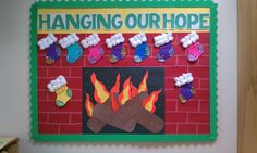 Christmas bulletin board.