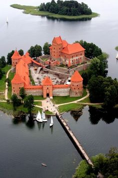 Trakai Island Castle is a castle located in Trakai, Lithuania on an island in Lake Galvė.