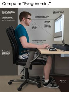 Avoid eye strain on the computer!  These tips will help save your eyes! @Emily Alzalde