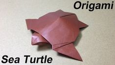 How to Make a Paper Animal / Origami Sea Turtle