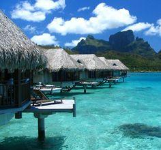 Water Villas at the Sofitel Marara Beach Resort, Bora Bora- Tahiti via  @adelto .co.uk .co.uk .co.uk