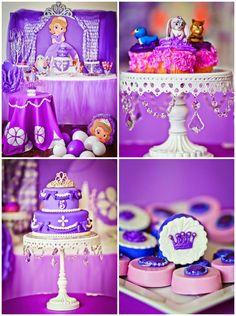 Sofia the First Birthday Party via Kara's Party Ideas