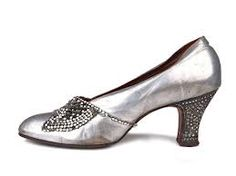 Silver rhinestone 1920s shoes - Google Search