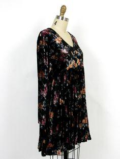 Velvet 90s babydoll dress.