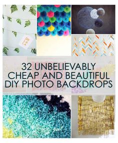 32 Unbelievably Cheap And Beautiful DIY Photo Backdrops