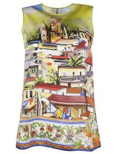 357cb41a4 DOLCE & GABBANA Dolce Gabbana Village Print Tank Top. #dolcegabbana #cloth  #topwear