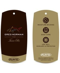 Greg Norman for Tasso Elba Men's Performance Sun Protection Golf Polo - Blue XL