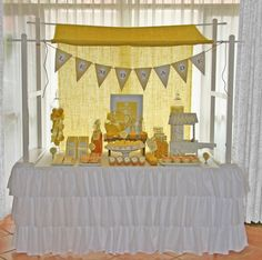"""Photo 1 of Lemonade Stand / Birthday """"Lemonade Stand & Dessert Buffet"""" Dessert Table Backdrop, Dessert Buffet, Dessert Tables, Candy Buffet, Kids Party Themes, Diy Party Decorations, Party Ideas, Girls Tea Party, Baby Party"""