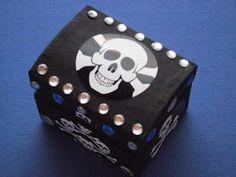 littlecraftybugs.co.uk: Pirate Treasure Chest Craft