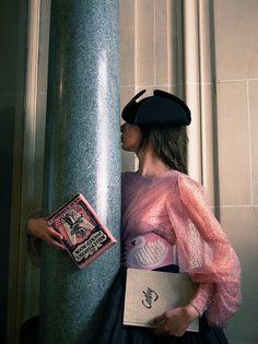 Camille Bidault-Waddington stars in Olympia Le-Tan Parisian shoot Amanda Harlech, Funny Poses, New Romantics, Olympia Le Tan, Parisian, High Fashion, Women's Fashion, Fashion Photography, Stylists