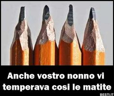 Anche vostro nonno vi temperava cosi le matite? | BESTI.it - immagini divertenti, foto, barzellette, video