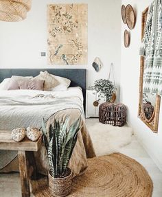 natural jute round rug bedroom – A mix of mid-century modern, bohemian, and industrial interior style. Home and apartment decor, decoration ideas… – light Bohemian Bedroom Decor, Home Decor Bedroom, Design Bedroom, Bedroom Ideas, Bedroom Inspo, Bedroom Bed, Modern Bohemian Bedrooms, Master Bedrooms, Bedroom Inspiration