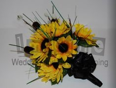 Sunflower Bridal Bouquet  www.imagine-weddings.com