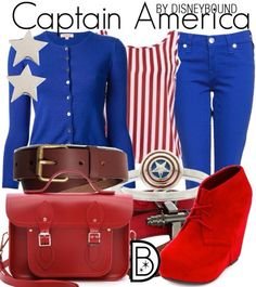 A fashion look from October 2014 featuring P. cardigans, True Religion jeans and Charlotte Russe ankle booties. Browse and shop related looks. Disney Themed Outfits, Disney Bound Outfits, Captain America Outfit, Captin America, Geek Chic Fashion, Women's Fashion, Disney Inspired Fashion, Disney Fashion, Estilo Disney