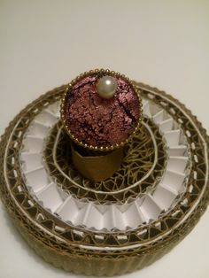bague rose et perle