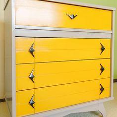 Project Nursery - Vintage Yellow Dresser