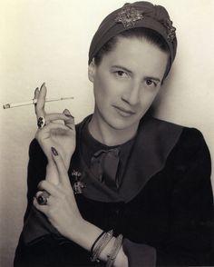 Fashion editor Diana Vreeland in the late 1930s* by George Hoyningen-Huene