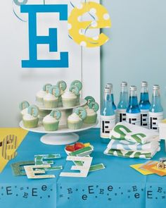 Initial Party - Its as easy as ABC to plan a party using the initial of the birthday child.