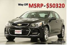 2017 Chevrolet SS MSRP$50320 6.2L V8 Sunroof GPS Phantom Black New Heated Leather Seats Navigation Camera 15 16 2016 17 Remote Start…
