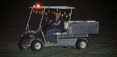 Glow Sticks on a Golf Cart! http://glowproducts.com/nightgolf #NightGolf #GlowGolf