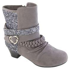 Bongo- -Girl's Shorty Boot Tessie - Grey-Shoes-Girls Shoes-Girls Boots