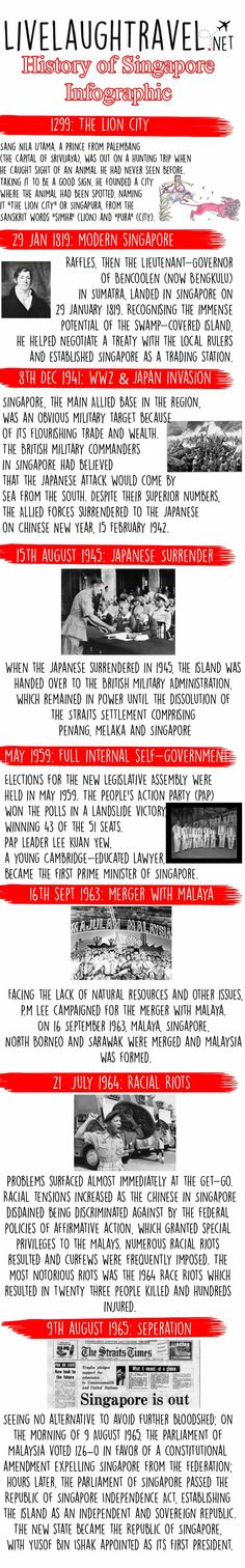 As Singapore celebrates it's 50 yrs of independence, we look back at the brief history & our road to independence through an infographic timeline. History Of Singapore, Timeline Infographic, Singapore Malaysia, History Timeline, Borneo, Looking Back, Beautiful Places, Asia, Blog