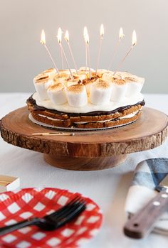 S'mores Birthday Cake: anyone have camping on the mind AND a summer birthday that I can make this cake for?