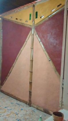 Divisória para quarto em bambu e barro. casa dos macacos do brejo. Produzida pela IntuitivaAmbientes