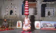 Bhavai dance - A folkdance from Rajasthan, India-showing exemplary balance and training