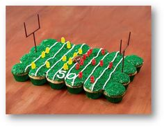 Try making these gorgeous cupcakes for Super Bowl Sunday