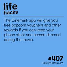 Get Free Popcorn at CineMark Theatres