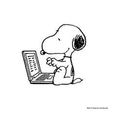 Image result for snoopy computer gif