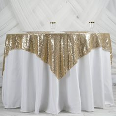 x Champagne Duchess Sequin Square Overlay Champagne Wedding Decorations, Spring Wedding Decorations, Spring Wedding Colors, Table Overlays, Floral Tablecloth, Square Tables, Table Linens, Event Decor, Crafts To Make