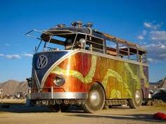 world's largest VW bus... made out of an old fire truck it's freakin huge!!
