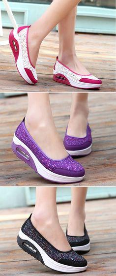 48% OFF! US$28.51 Colorful Ball Dot Platform Slip On Sport Casual Rocker Sole Shoes. SHOP NOW!