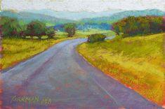 """Road Sketch No. - Original Fine Art for Sale - © Rita Kirkman Watercolor Landscape, Landscape Paintings, Landscapes, Road Painting, Small Paintings, Fine Art Gallery, Creative Inspiration, Art For Sale, Still Life"