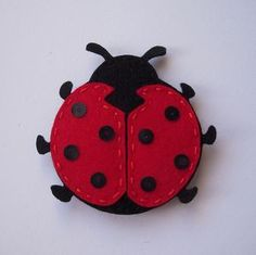 felt ladybug / Awww so cute and suppose to bring you luck!