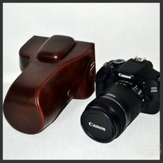 Dslr Camera Case Antique for Canon EOS Rebel T3 T3i 18-135 IS and 18-55 IS /Canon 1100D 600D 18-135 IS and 18-55 IS Antique Dark Brown by Mega Brands. $44.99. This leather Dslr camera case is great for your Canon EOS Rebel T3 T3i 18-135IS 18-55 IS /Canon 1100D 600D 18-135IS 18-55 IS camera.The case is made of high quality leather. Color is Dark Brown. You will love it.. Save 25%!