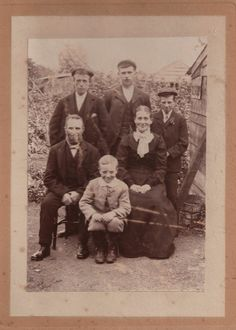 Unknown Victorian Family In A Good Mood