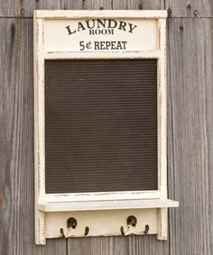 Another great find on #zulily! 'Laundry Room' Washboard Wall Hook #zulilyfinds
