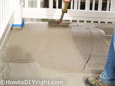How to restore concrete patio and fix patio's that have low areas with drainage issues