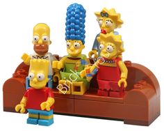 LEGO Simpsons Family on the Couch from 71005 Simpsons by Brick2you