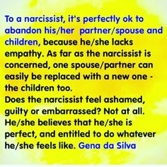 To a NARCISSIST it's perfectly ok to abandon their partner or spouse and children. | Narcissistic Abuse Recovery