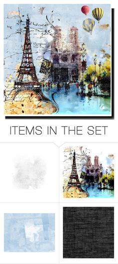 """""""Balloon's in Paris..."""" by kmiles ❤ liked on Polyvore featuring art, paris, balloons, city and tower"""