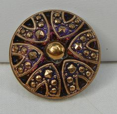 Dramatic Czech Glass Button by MostlyButtons on Etsy, $5.00