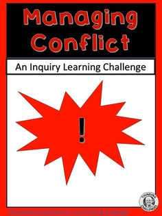 In this upper primary/ middle school Conflict Resolution resource you will find questions, activities and ideas based around a classroom challenge to your students using an Inquiry Based Learning model Inquiry Based Learning, Learning Activities, Conflict Management, Thematic Units, Conflict Resolution, A Classroom, Upper Elementary, Literacy Centers, Critical Thinking