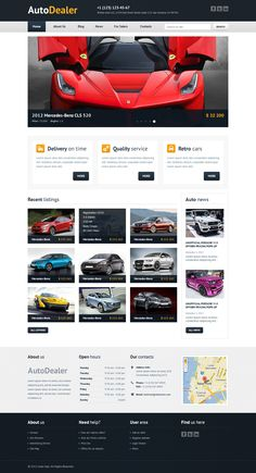Auto Dealer - Car Dealer PSD Template #wordpress #theme #website #template #responsive #design #webdesign #flat #flatdesign #cars #auto #shop