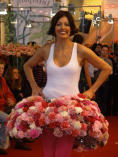 Dress with Carnations from Valstar Anjers