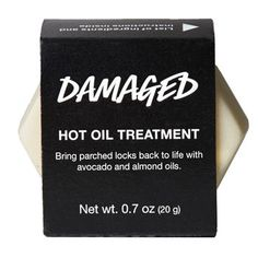 Damaged Hot Oil Treatment: For my very dry ends Extra virgin olive oil, almond oil and organic avocado oil nourish parched hair, leaving it smooth and shiny, and fair trade vanilla absolute perfumes locks with a long-lasting sweet and comforting scent. Lush Cosmetics, Handmade Cosmetics, Natural Hair Tips, Natural Hair Styles, Lush Products, Beauty Products, Hair Products, Body Products, Organic Avocado Oil