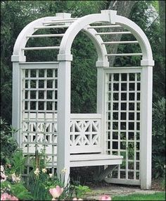 Arbor with Elliptical Arch and bench...